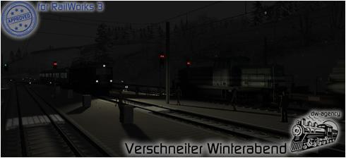 Verschneiter Winterabend - Preview Picture