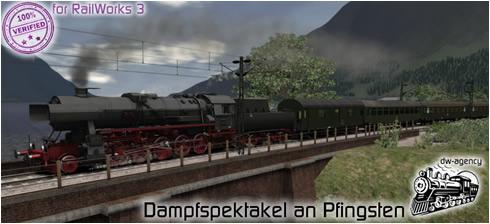 Dampfspektakel an Pfingsten