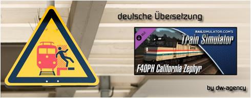 F40PH California Zephyr Add-On - deutsche Übersetzung