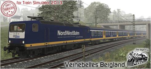 Vernebeltes Bergland - Vorschaubild