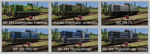BR 294 Repaints Vorschaubilder - Vorschaubild