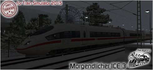 Morgendlicher ICE 3 - Vorschaubild