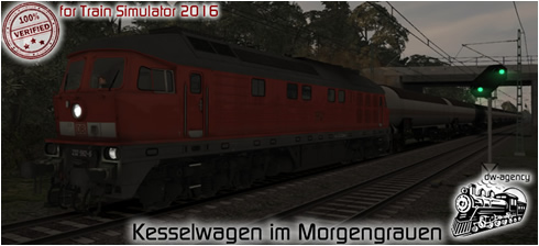 Kesselwagen im Morgengrauen - Vorschaubild