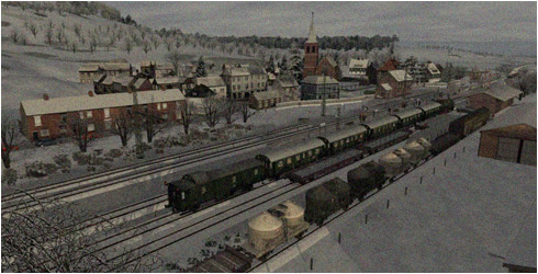 Schnappschuss - Dampfsonderzug in Winterlandschaft 1996 | Rudolf Bach