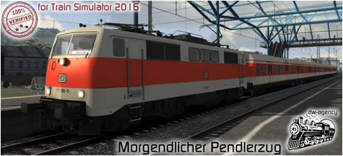 Morgendlicher Pendlerzug - Vorschaubild
