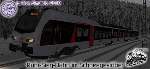 Ruhr-Sieg-Bahn im Schneegestöber - Vorschaubild