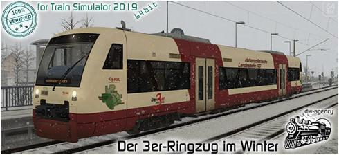 Der 3er-Ringzug im Winter - Vorschaubild
