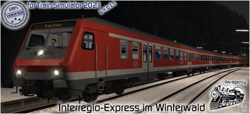 Interregio-Express im Winterwald - Vorschaubild
