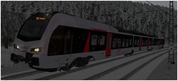 Ruhr-Sieg-Bahn im Schneegestöber